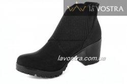 Ботинки женские X-Mmm 1014 (зимние, черный, эко-замш)