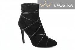 Ботинки женские kamengsi 2832 (весенне-осенние, черный, эко-кожа)