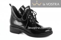 Ботинки женские Днепр 2871 (весенне-осенние, черный, лак)