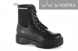 Ботинки женские Basida 6923 (весенне-осенние, черный, эко-кожа)
