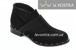 Ботинки женские Днепр 2660 (весенне-осенние, черный, замш)