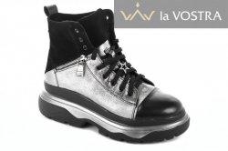 Ботинки женские Днепр 5259 (зимние, черный, кожа)