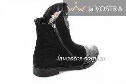 Ботинки женские Днепр 2197 (зимние, черный, замш)
