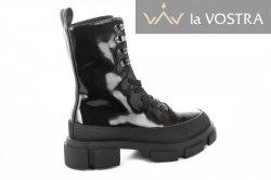 Ботинки женские VaGue 6901 (весенне-осенние, черный, кожа)