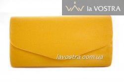 Клатч жіночий Miss moda 6932 (жовтий, еко-замш)
