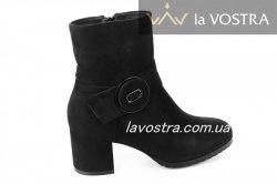 Ботинки женские Loreta 6735 (зимние, черный, эко-замш)