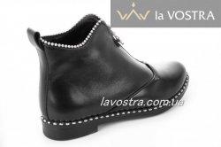 Ботинки женские Sezar 2124 (зимние, черный, кожа)