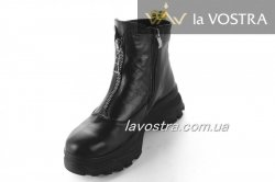 Ботинки женские Днепр 6769 (зимние, черный, кожа)