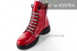 Ботинки женские Maria Sonet 6798 (зимние, красный, кожа)