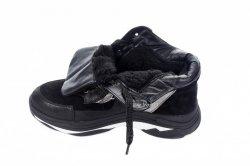 Кроссовки женские  5189 (зимние, черный, замш)