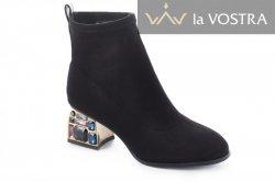 Ботинки женские VaGue 6991 (весенне-осенние, черный, замш)