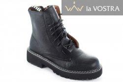 Ботинки женские Seastar 6993 (весенне-осенние, черный, эко-кожа)