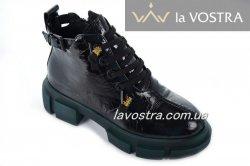 Черевики жіночі VaGue 6990 (весняно-осінні, чорний, шкіра)
