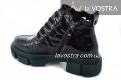 Ботинки женские VaGue 6990 (весенне-осенние, черный, кожа)