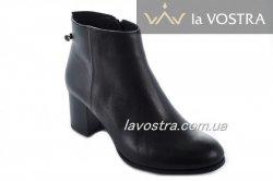 Черевики жіночі Style-N 7003 (весняно-осінні, чорний, шкіра)