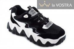 Кросівки жіночі Seastar 7000 (весна-літо-осінь, чорний, еко-замш)