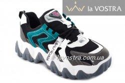 Кросівки жіночі Seastar 6997 (весна-літо-осінь, чорний-срібло, еко-замш)