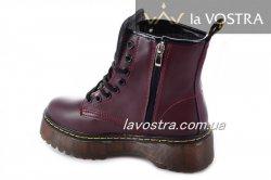 Ботинки женские Seastar 6995 (весенне-осенние, бордовый, эко-кожа)