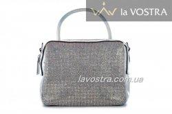 Сумка :женская Lady-bags 6977 (серебро, эко-кожа)
