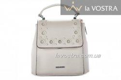 Рюкзак-сумка жіночий Velina Fabbiano 6974 (бежевий, еко-шкіра)