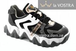 Кросівки жіночі Seastar 7017 (весна-літо-осінь, чорний-золоото, еко-замш)
