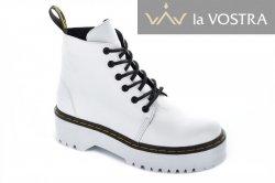 Ботинки женские Maria Sonet 7011 (весенне-осенние, белый, кожа)