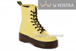 Черевики жіночі Maria Sonet 7010 (весняно-осінні, жовтий, лак)