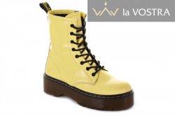 Ботинки женские Maria Sonet 7010 (весенне-осенние, желтый, лак)