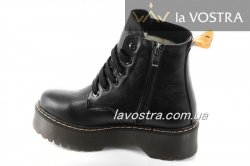 Ботинки женские Днепр 6804 (зимние, черный, кожа)