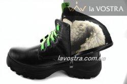 Ботинки женские Днепр 6821 (зимние, черный, кожа)
