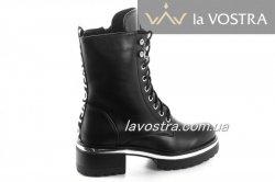 Ботинки женские Yes mile 6814 (зимние, черный, эко-кожа)