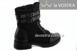 Ботинки женские Lucia 6817 (зимние, черный, эко-замш)