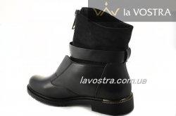 Ботинки женские Lucia 6818 (зимние, черный, эко-кожа)