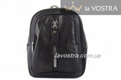 Рюкзак-сумка: жіноча Angela 6273 (чорний, еко-шкіра)