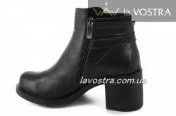 Ботинки женские Днепр 5477 (весенне-осенние, черный, кожа)