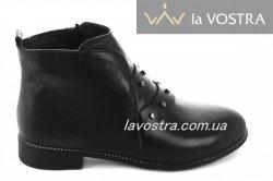 Ботинки женские Vlamal 6756 (весенне-осенние, черный, кожа)