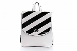 Сумка-рюкзак женская D&Bags 7827 (белый-черный, эко-кожа)