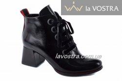 Черевики жіночі Style-N 7052 (весняно-осінні, чорний, лак)