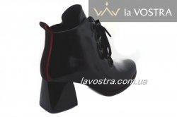 Ботинки женские Style-N 7052 (весенне-осенние, черный, лак)