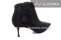 Ботинки женские Seastar 7040 (весна-лето-осень, черный, эко-замш)