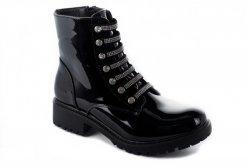 Ботинки женские Seastar 7048 (весенне-осенние, черный, эко-лак)