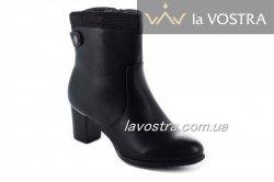 Ботинки женские Basida 7038 (весенне-осенние, черный, эко-кожа)