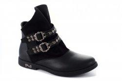 Ботинки женские Weide 2791 (весенне-осенние, черный, эко-кожа)