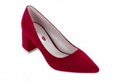 Туфли женские Yes mile 7045 (весна-лето-осень, красный, эко-замш)