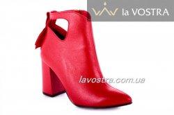 Черевики жіночі Style-N 7050 (весняно-осінні, червоний, шкіра)