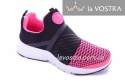 Кросівки жіночі M / N 6447 (весняно-осінні, чорний, текстиль)