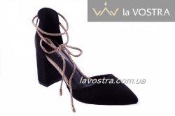 Туфлі жіночі Seastar 7042 (весна-літо-осінь, чорний, еко-замш)