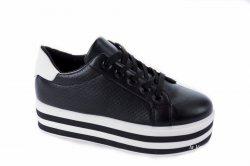 Кросівки жіночі Comer 3270 (весняно-осінні, чорний, еко-шкіра)