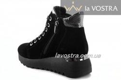 Ботинки женские Maria Sonet 6864 (зимние, черный, замш)