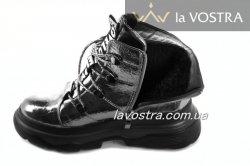 Ботинки женские Weide 6847 (зимние, черный, эко-кожа)
